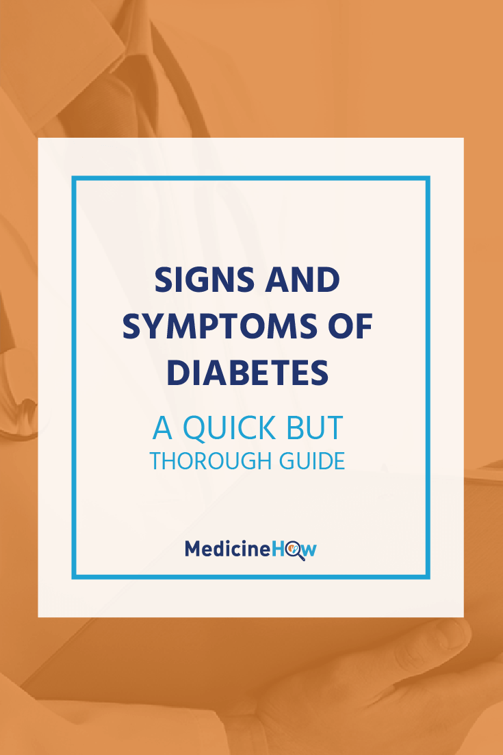 Do you know what the signs and symptoms of diabetes are? It's important to know so that you can recognise them if they occur. They're quite simple, so click through to read more about diabetes symptoms.