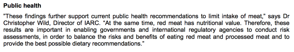 Processed Red Mean WHO Public Health Recommendations