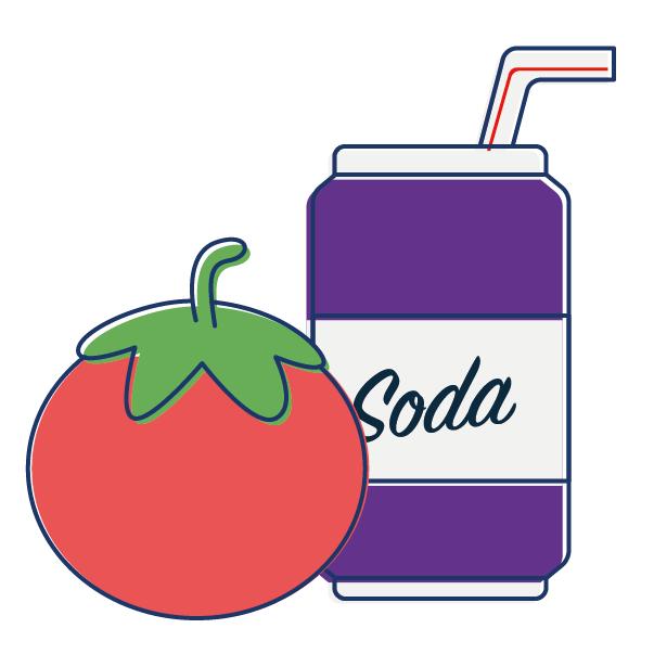 Antiacids Heartburn Tomato Soda