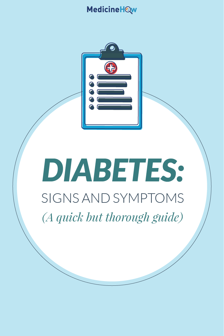 Diabetes: Signs and Symptoms (A quick but thorough guide)