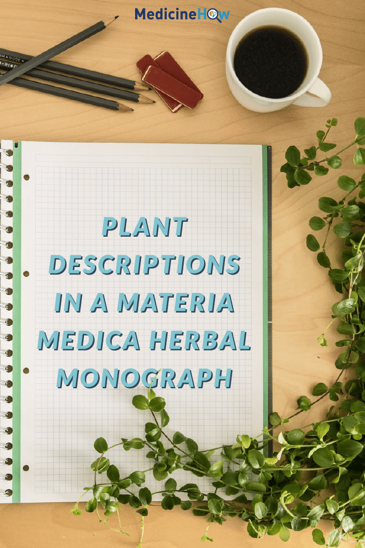 Plant Descriptions in a Materia Medica Herbal Monograph