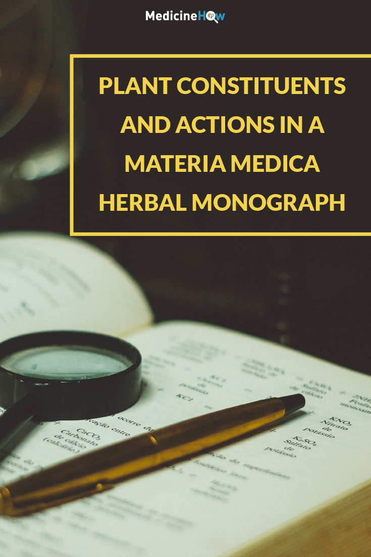 Plant Constituents and Actions in a Materia Medica Herbal Monograph